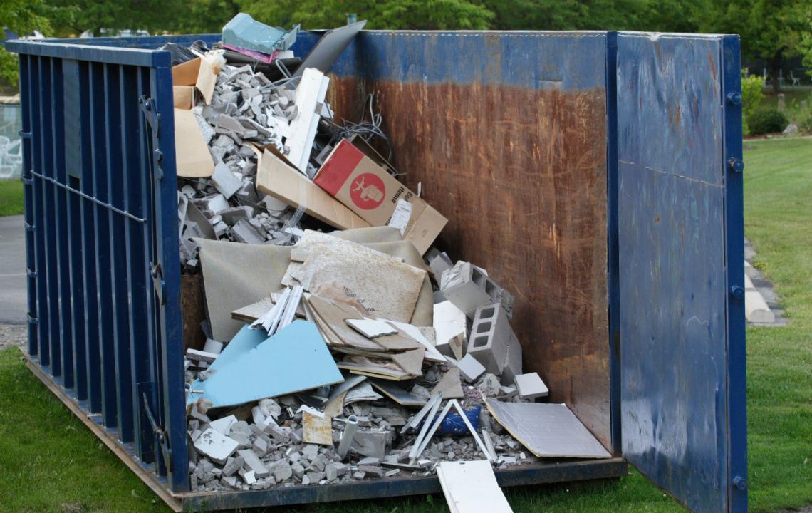 Вывоз мусора контейнером 1,1 м3