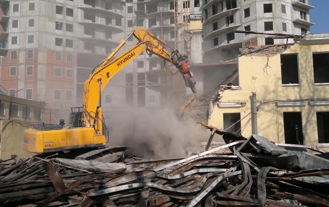Демонтаж конструкций