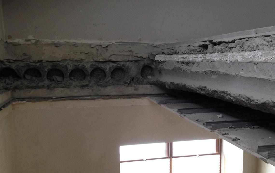 Демонтаж плит перекрытия
